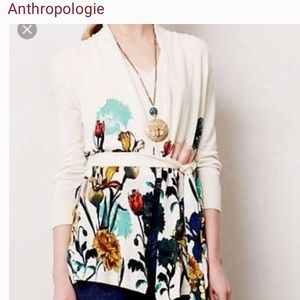 Anthropologie Moth floral cardigan L